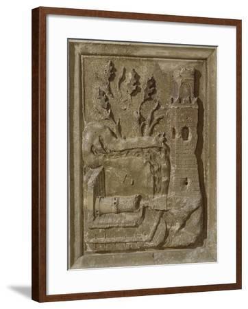 Marble Tile Depicting War Machine--Framed Giclee Print