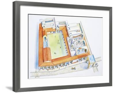 Italy, Campania Region, Pompei, Reconstructed Bathouse--Framed Giclee Print