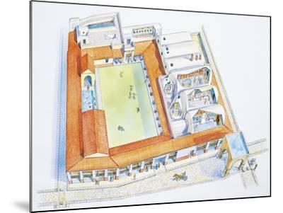 Italy, Campania Region, Pompei, Reconstructed Bathouse--Mounted Giclee Print