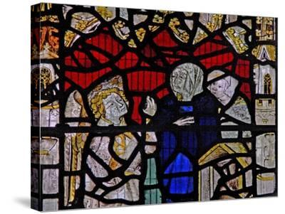 Window Ww Depicting a Resurrection Scene: the Holy Women at the Tomb--Stretched Canvas Print