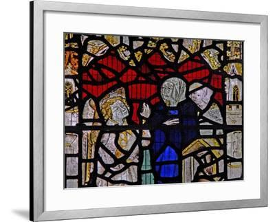 Window Ww Depicting a Resurrection Scene: the Holy Women at the Tomb--Framed Giclee Print