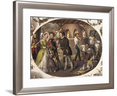 Austria, Vienna, Glass Blowers in their Workshop--Framed Giclee Print