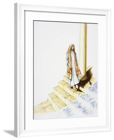 Ezekiel's Vision of Water Flowing Down from Temple--Framed Giclee Print
