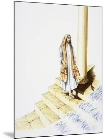 Ezekiel's Vision of Water Flowing Down from Temple--Mounted Giclee Print