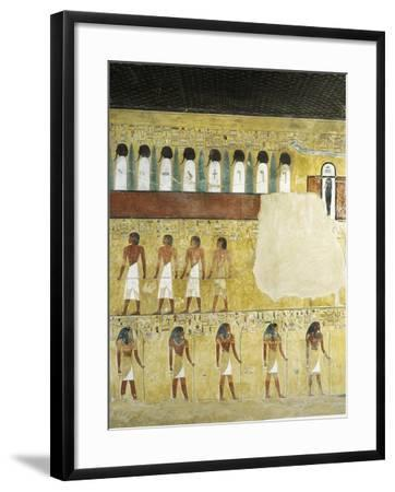 Egypt, Valley of the Kings, Tomb of Seti I, Mural Paintings in Burial Chamber from 19th Dynasty--Framed Giclee Print