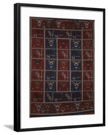 Rugs and Carpets: Azerbaijan - Woollen Kilim Carpet--Framed Giclee Print