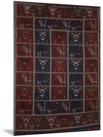 Rugs and Carpets: Azerbaijan - Woollen Kilim Carpet--Mounted Giclee Print