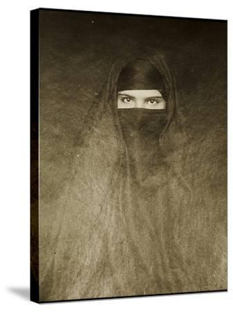 Woman Wearing a Burqa, Early 20th Century--Stretched Canvas Print