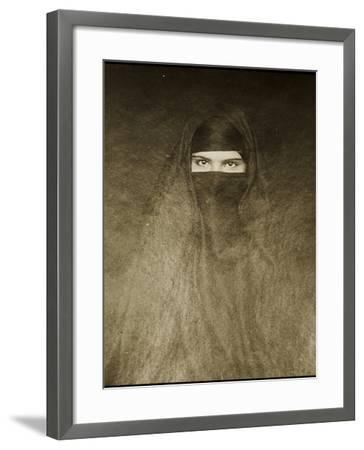 Woman Wearing a Burqa, Early 20th Century--Framed Photographic Print