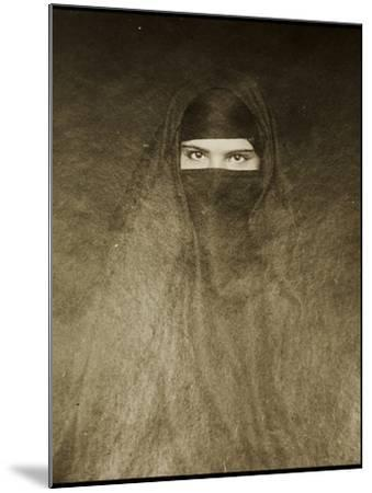 Woman Wearing a Burqa, Early 20th Century--Mounted Photographic Print