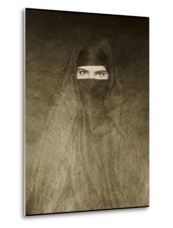 Woman Wearing a Burqa, Early 20th Century--Metal Print