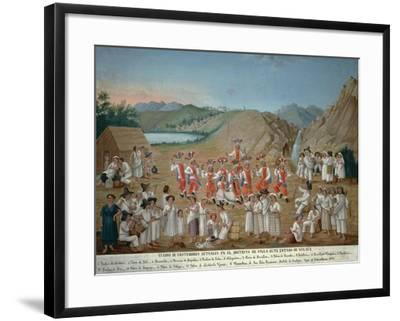 Feather Dance of Villa Alta Indios--Framed Giclee Print