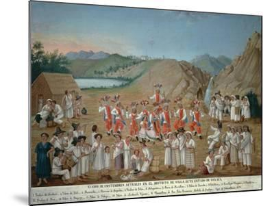 Feather Dance of Villa Alta Indios--Mounted Giclee Print