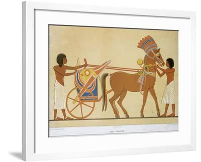 Reproduction of Fresco Depicting Princely Chariot of 18th Dynasty--Framed Giclee Print