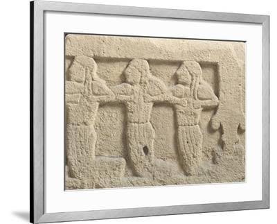 Fictile Tablet Depicting Mourners and Funeral Procession--Framed Giclee Print