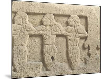 Fictile Tablet Depicting Mourners and Funeral Procession--Mounted Giclee Print