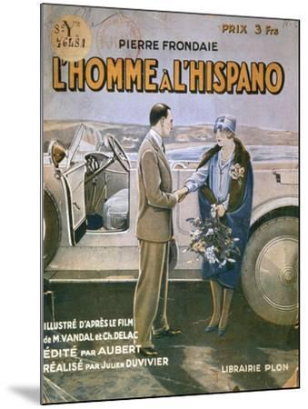 Front Cover of 'L'Homme a L'Hispano'--Mounted Giclee Print