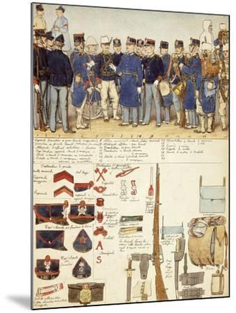 Uniforms of Grenadiers of Sardinia, Line Infantry, Troop of Kingdom of Italy--Mounted Giclee Print