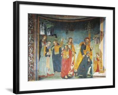 Fresco in Church of Saint Oliva, Cori, Lazio, Italy, 12th-17th Century--Framed Giclee Print