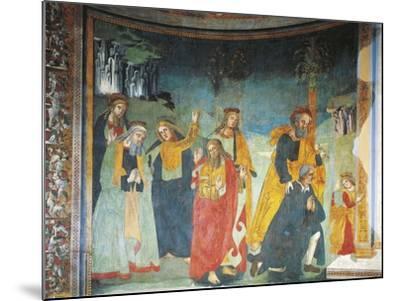 Fresco in Church of Saint Oliva, Cori, Lazio, Italy, 12th-17th Century--Mounted Giclee Print