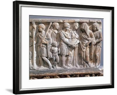 Relief Depicting Jason and Medea Making Peace--Framed Giclee Print