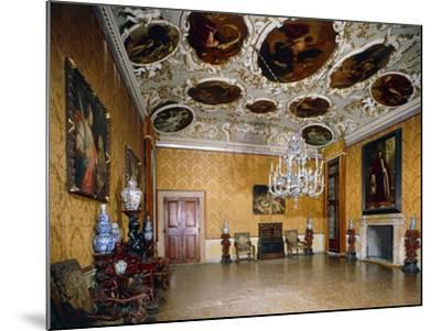 Hall of Brustolon, Ca' Rezzonico, Venice, Veneto, Italy--Mounted Giclee Print
