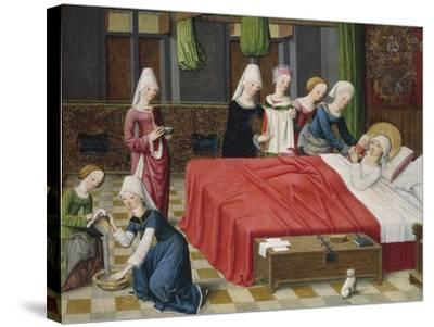 Birth of the Virgin, 1485--Stretched Canvas Print