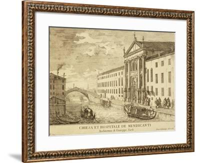Venice,Church and Hospital for Beggars by Luca Carlevarijs, 1703--Framed Giclee Print
