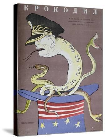 Caricature of Tito as the Servant of the Usa--Stretched Canvas Print