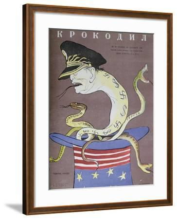 Caricature of Tito as the Servant of the Usa--Framed Giclee Print