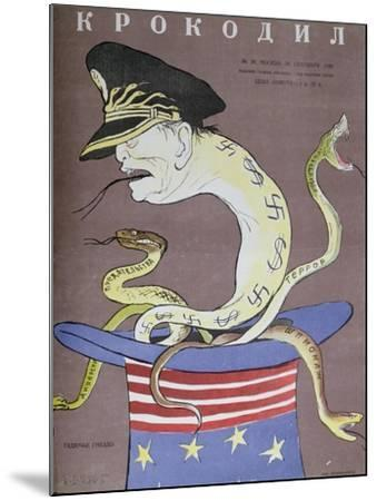 Caricature of Tito as the Servant of the Usa--Mounted Giclee Print