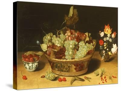Still Life with Fruits and Flowers--Stretched Canvas Print