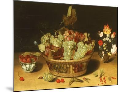 Still Life with Fruits and Flowers--Mounted Giclee Print