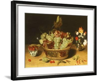 Still Life with Fruits and Flowers--Framed Giclee Print