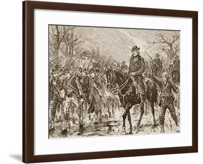 The March to Shiloh--Framed Giclee Print