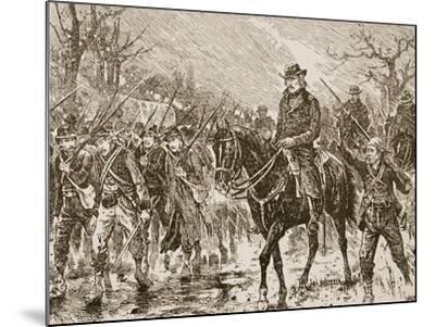 The March to Shiloh--Mounted Giclee Print