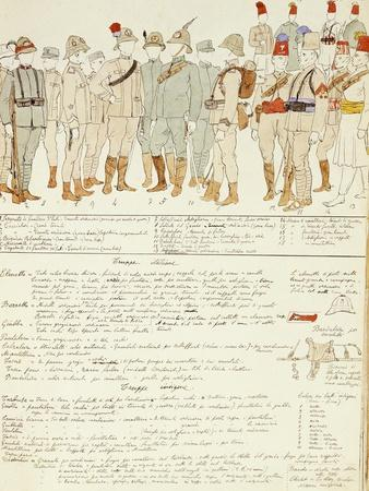 Uniforms of Royal Corp of Colonial Troops of Kingdom of Italy in Eritrea--Framed Giclee Print