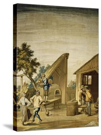 Country Dance Tapestry Based on Cartoon by David Teniers the Younger--Stretched Canvas Print