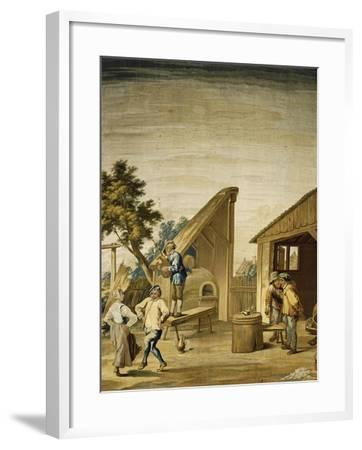 Country Dance Tapestry Based on Cartoon by David Teniers the Younger--Framed Giclee Print