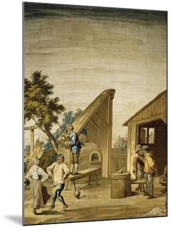 Country Dance Tapestry Based on Cartoon by David Teniers the Younger--Mounted Giclee Print