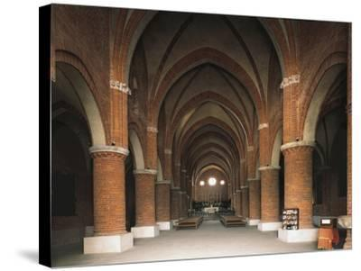Nave of 12th Century Cistercian Abbey of Morimondo, Italy, 12th-13th Century--Stretched Canvas Print