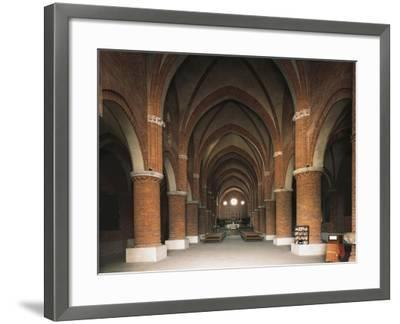 Nave of 12th Century Cistercian Abbey of Morimondo, Italy, 12th-13th Century--Framed Giclee Print