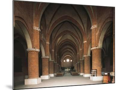 Nave of 12th Century Cistercian Abbey of Morimondo, Italy, 12th-13th Century--Mounted Giclee Print