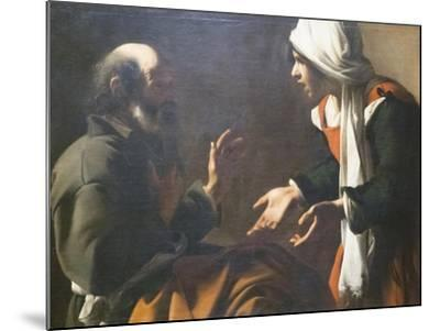 The Denial of Saint Peter--Mounted Giclee Print