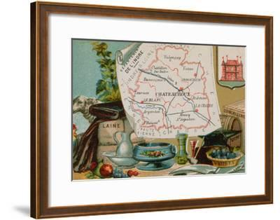 Department of Indre in Central France--Framed Giclee Print