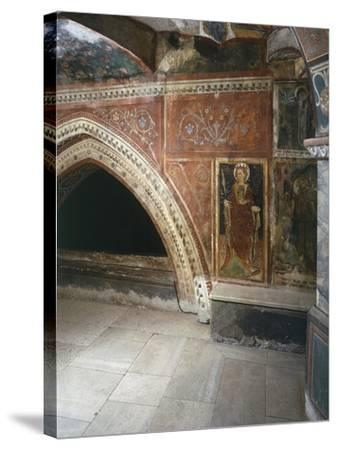 Italy, Subiacoes Decorated Interior Sacro Speco Monastery--Stretched Canvas Print