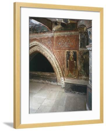 Italy, Subiacoes Decorated Interior Sacro Speco Monastery--Framed Giclee Print