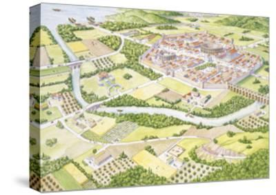 Reconstruction of Roman City--Stretched Canvas Print