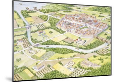 Reconstruction of Roman City--Mounted Giclee Print