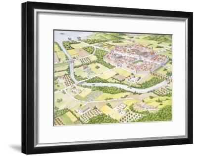 Reconstruction of Roman City--Framed Giclee Print